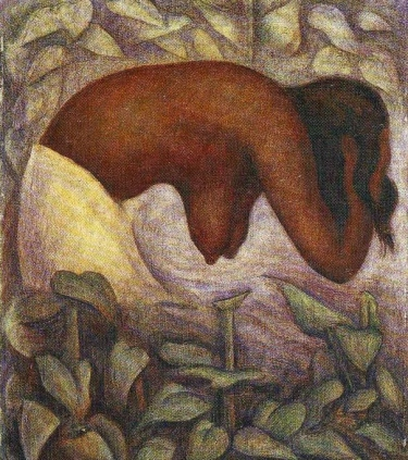 Bather of Tehuantepec by Diego Rivera (1923)