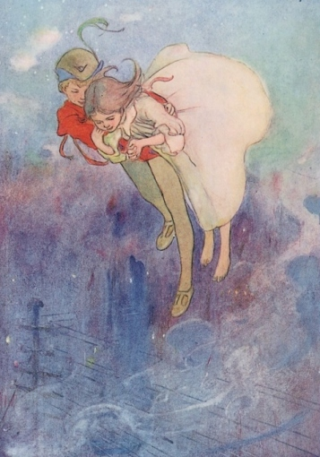 Illustration fromThe Peter Pan Picture Book (1907) by Alice B. Woodward