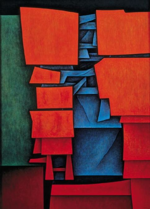 Figure in red and blue by Gunther Gerzso (1964)