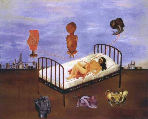 Henry Ford Hospital (The Flying Bed) by Frida Kahlo (1932)