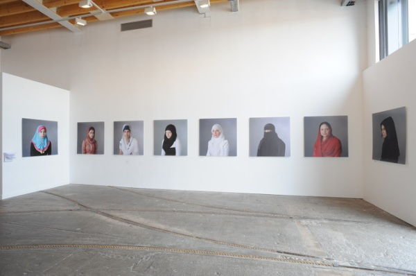 Installation view of Purdah - The Sacred Cloth by Arpita Shah