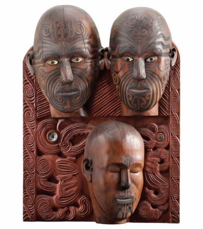 Tene Waitere, Tā Moko panel (1896-99) Te Papa © Image courtesy of The Museum of New Zealand Te Papa Tongarewa