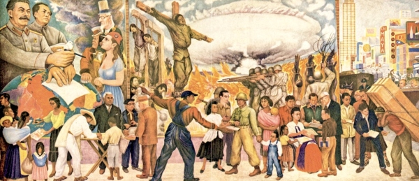 The Nightmare of War and Dream of Peace by Diego Rivera (1952)