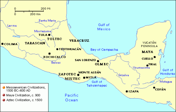 Map of Mesoamerica