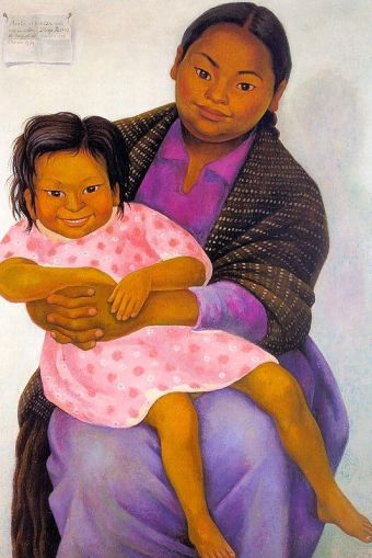 Modesta and Inesita by Diego Rivera (1939)