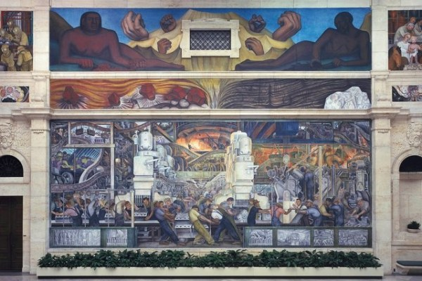 Detroit, Man and Machine, North Wall in the Detroit Institute of Art by Diego Rivera (1932)