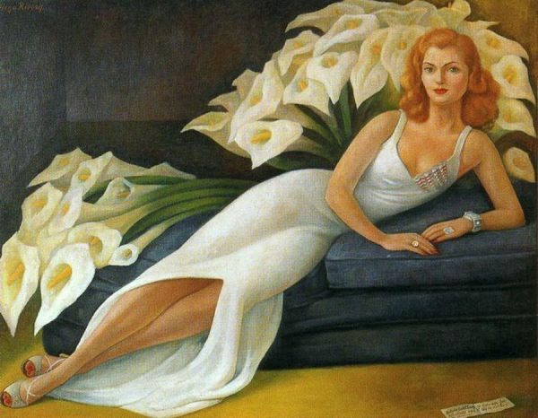 Portrait of Natasha Gelman by Diego Rivera (1943)