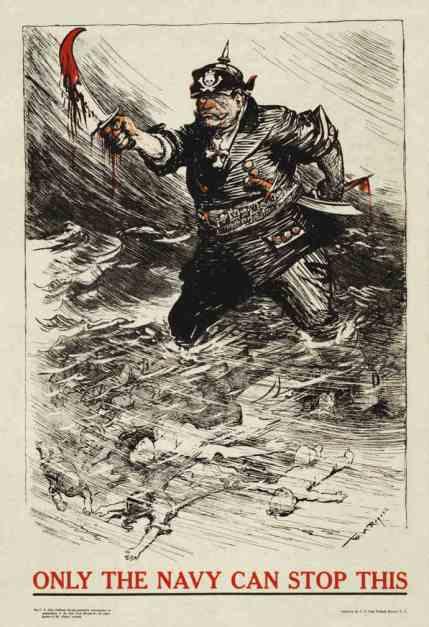First World War anti-German propaganda poster