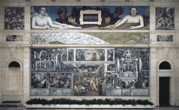 Detroit, Man and Machine, South Wall in the Detroit Institute of Art by Diego Rivera (1932)