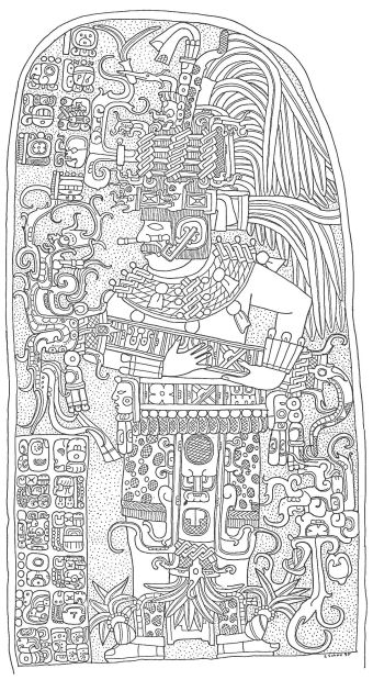Drawing of Seibal stela 10