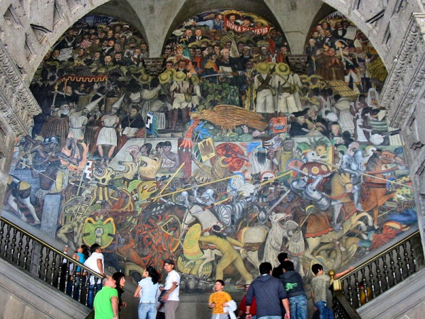 History of Mexico mural in the main stairwell of the National Palace by Diego Rivera (1929-35)