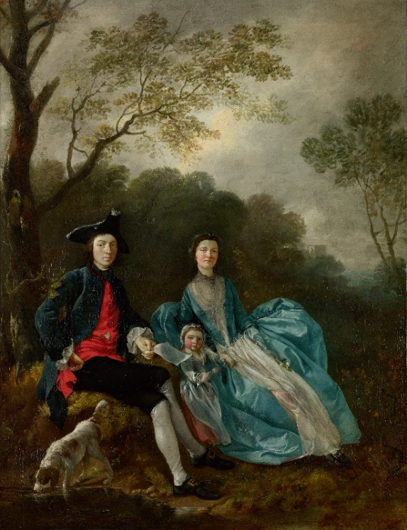 the artist with his wife Margaret and eldest daughter Mary by Thomas gainsborough (1748)© The National Gallery, London