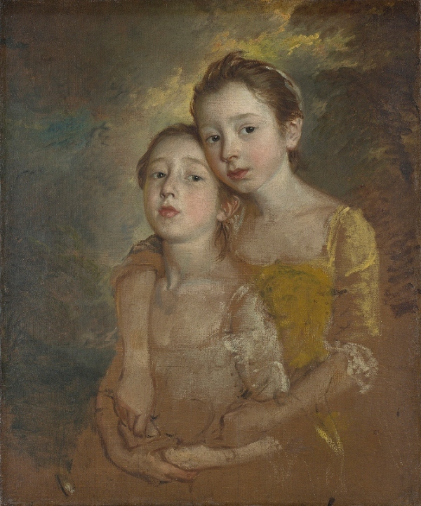Mary and Margaret Gainsborough, the artist's daughter, with a cat by Thomas Gainsborough (1760-61) © The National Gallery, London