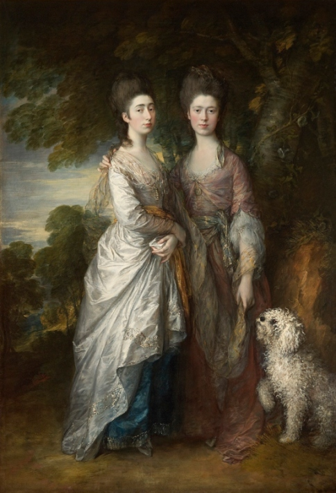 Mary and Margaret Gainsborough, the artist's daughters by Thomas Gainsborough (1770-74) Private collection