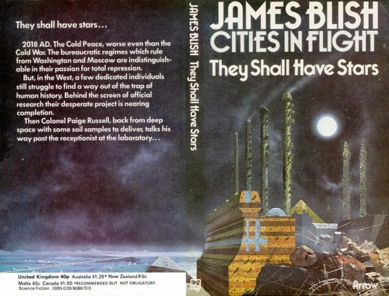 Cover of the 1974 Arrow Books edition of They Shall Have Stars, art by Chris Foss