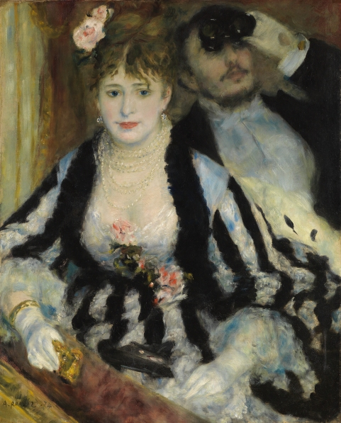 The Theatre Box (1874) by Pierre-Auguste Renoir © The Samuel Courtauld Trust