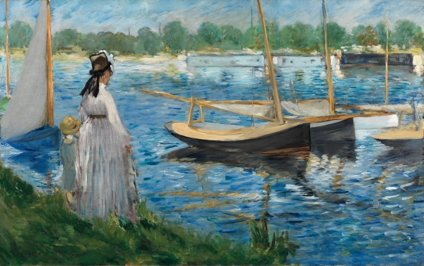 Banks of the Seine at Argenteuil (1874) by Edouard Manet, on loan to The Courtauld Gallery from a private collection © The Samuel Courtauld Trust