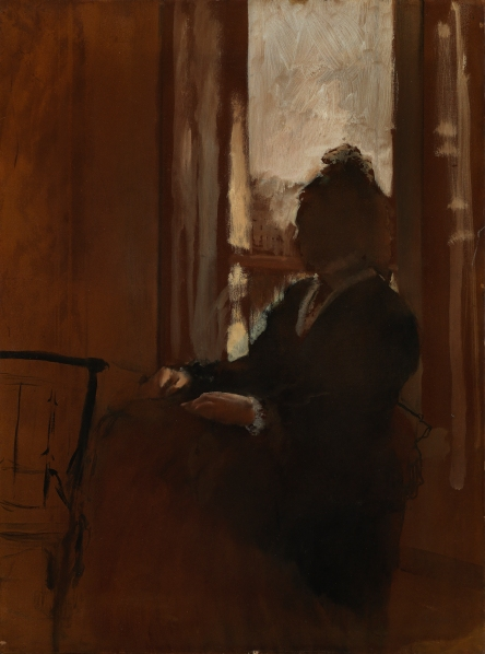 Woman at a Window (1871-72) by Hilaire-Germain-Edgar Degas © The Samuel Courtauld Trust, The Courtauld Gallery, London