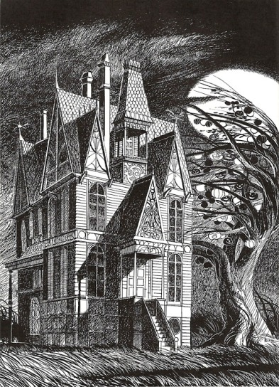 Illustration by Joseph Mugnaini of Ray Bradbury's story The Halloween Tree