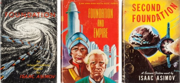 The original 1950s Gnome Publishing editions of Foundation, Foundation and Empire and Second Foundation