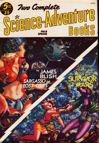 Cover of Two Complete Science-Adventure Books featuring Blish's novella 'Sargasso of Lost Cities'