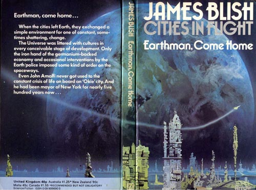 Cover of Earthman' Come Home, 1974 Arrow paperback edition, by Chris Foss