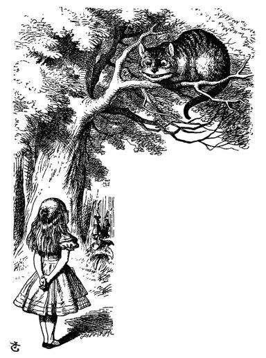The Cheshire Cat - original illustration for Alice in Wonderland by Sir John Tenniel (1866)