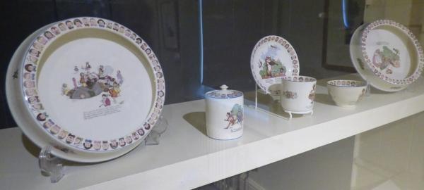 Nursery china designed by William Heath Robinson (1927)