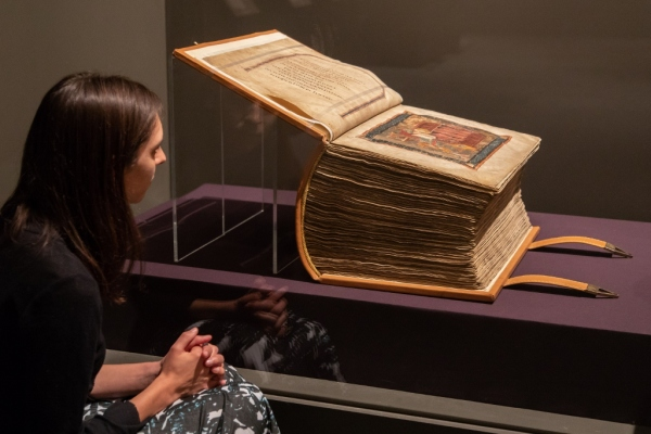 Codex Amiatinus on loan from Biblioteca Medicea Laurenziana to Anglo-Saxon Kingdoms at the British Library © Sam Lane Photography