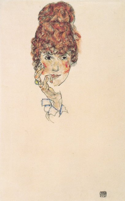 Edith Schiele by Egon Schiele (1917)Edith Schiele by Egon Schiele (1917)