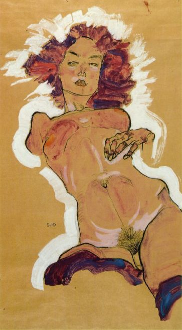 Female Nude (1910) by Egon Schiele