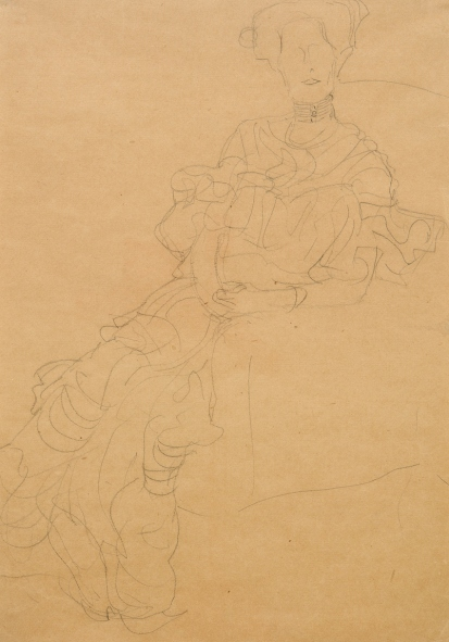 Study for a painting of Fritza Riedler by Gustav Klimt (1904)