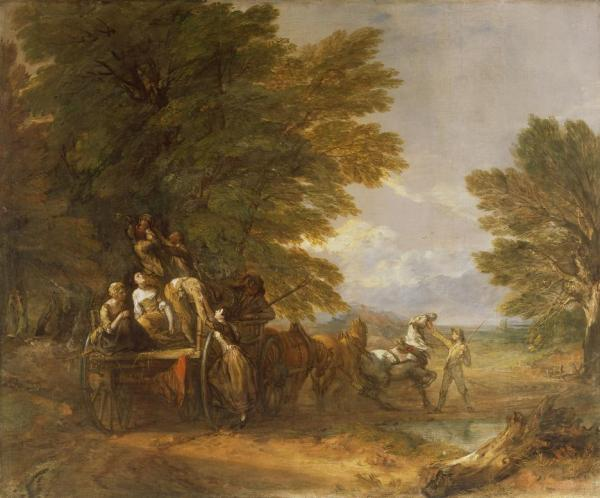 The Harvest Wagon by Thomas Gainsborough. (1767) the Barber Institute of Fine Arts