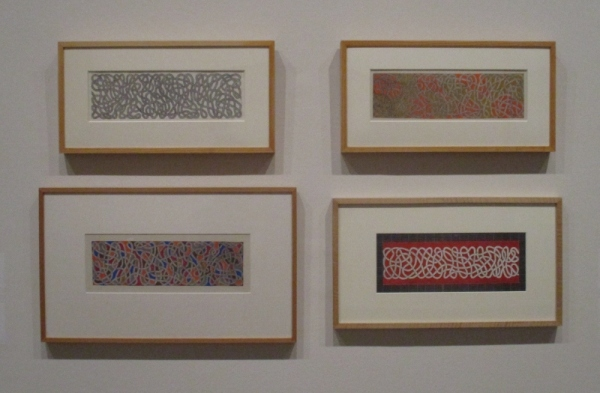 Drawings for a rug by Anni Albers (1959)