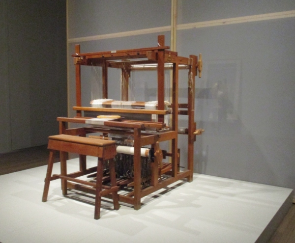 A 12 Shaft Counter March loom of the type Albers would have used at the Bauhaus