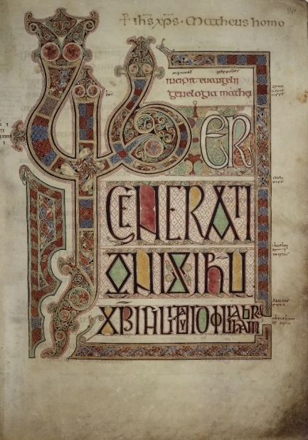 Lindisfarne Gospels f.27r © British Library Board