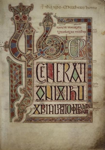 Lindisfarne Gospels f.27r © British Library Board