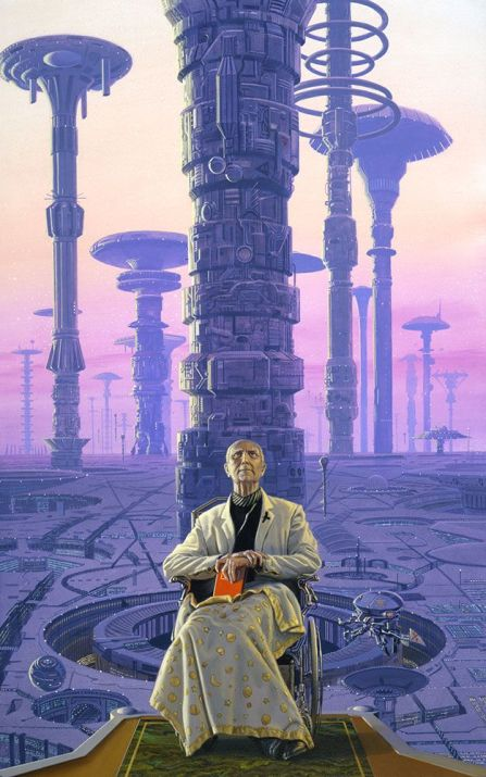 Hari Seldon depicted by Michael Whelan