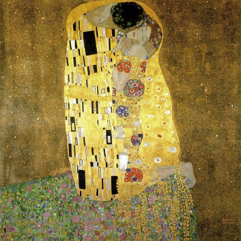 The Kiss by Gustav Klimt (1908)
