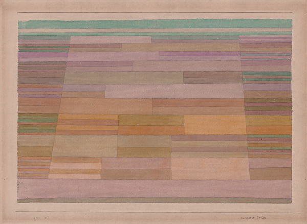 Measured Fields by Paul Klee (1929)