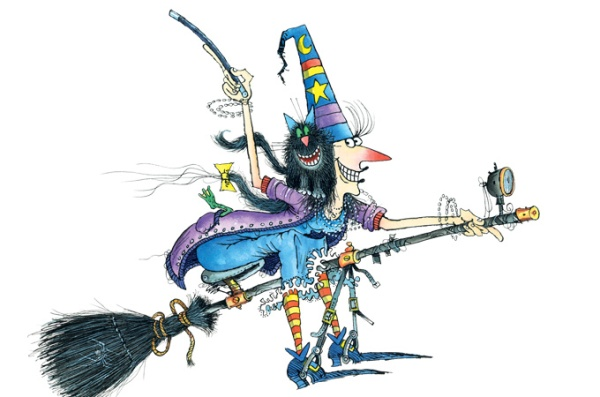 Winnie the Witch and her cat, Wilbur, characters by Valerie Thomas, illustrations by Korky Paul