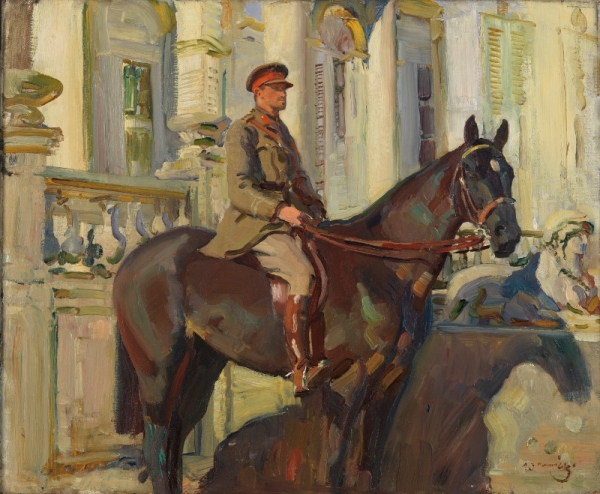 Captain Prince Antoine of Orleans and Braganza by Alfred Munnings (1918) © Canadian War Museum