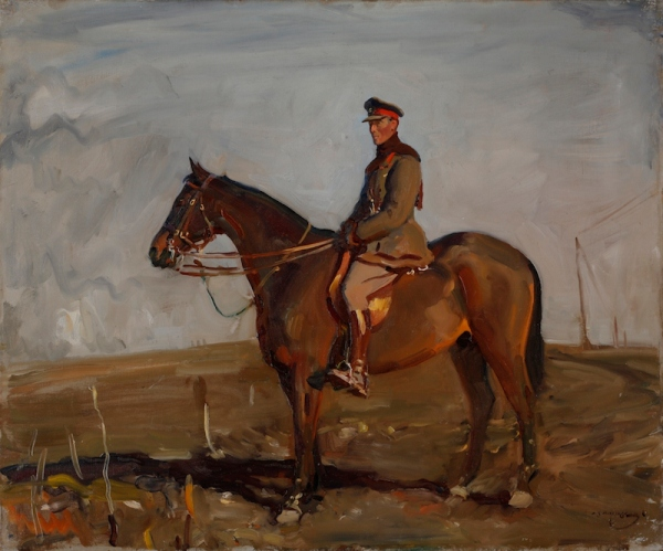 Major-General the Right Honourable J.E.B.Seely by Alfred Munnings (1918) © Canadian War Museum
