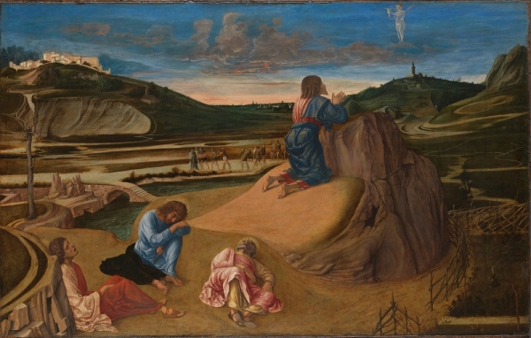 The Agony in the Garden by Giovanni Bellini (about 1458-60) Egg tempera on panel © The National Gallery, London