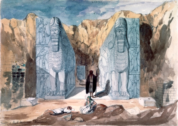 Discovery of Nimrud by Frederick Charles Cooper (1810 – 1880) mid-19th century, watercolour on paper © The Trustees of the British Museum