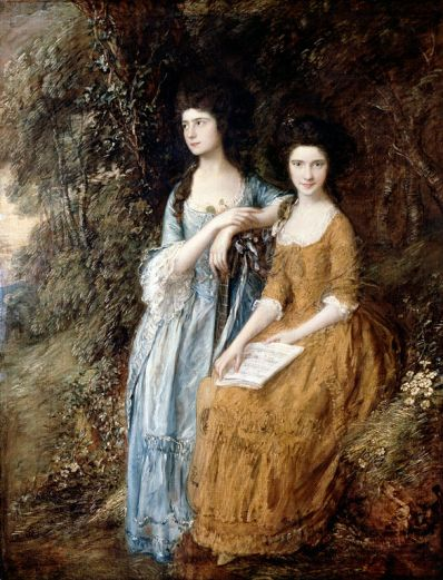 Elizabeth and Mary Linley by Thomas Gainsborough (1772)