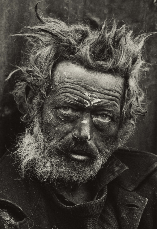 Homeless Irishman, Spitalfields, London (1970)