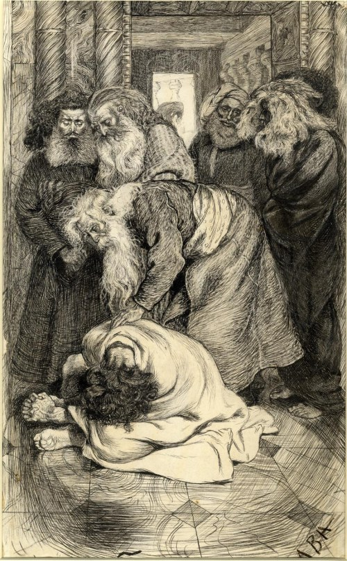 Job's Comforters by Arthur Boyd Houghton (c.1865)