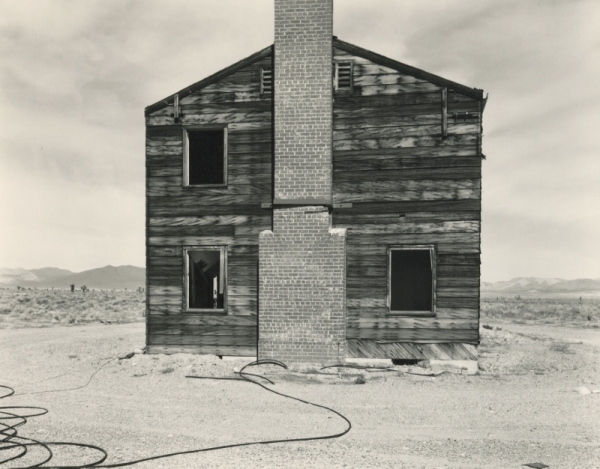 """Typical American House"", Nevada Test Site, Yucca Flat, Apple II Test Site, 1995 by Mark Ruwedel © Mark Ruwedel, 2018"