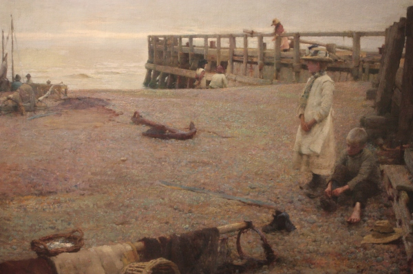 An October Morning (1885) by Walter Frederick Osborne